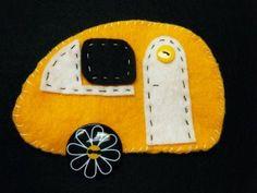 wool felt craft trailer... cute...