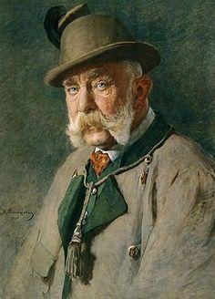 Franz Joseph of Austria, 1910 (Kasimierz Pochwalski) (1855-1940) Location TBD