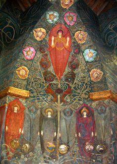 ☮ American Hippie Art ~ Chapel Tree of Life