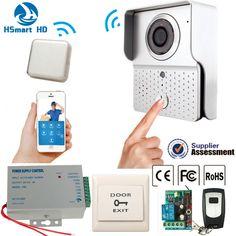 New Hot HD 720P Wifi Doorbell Wide angle IR Camera Wireless Video Intercom Phone Control Wireless Door bell + Remote View Unlock