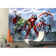 Fototapet Super-eroi Marvel pentru camere copii
