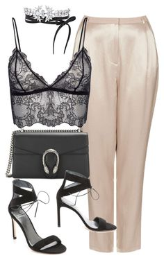 """""""Untitled #11166"""" by minimalmanhattan on Polyvore featuring Topshop, Fallon and Stuart Weitzman"""