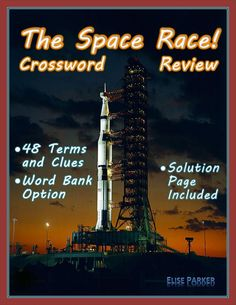 Space Race Crossword Puzzle Review is a great way for students to immerse themselves in this key phase of the Cold War. IDEAL FOR: Reviewing before a test or quiz; Homework that goes beyond the text; Substitute lesson plans; Outside research on the topic; and much, much more! #spacerace #coldwar #kennedy #khrushchev #apollo #moonlanding #sovietunion #saturnv #historypuzzle #funhistory #tpthistory #astronaut #cosmonaut #nasa #1960s Fun Educational Games, Learning Games, Learning Centers, Space Race, Teaching History, Crossword, Cold War, Critical Thinking, World History