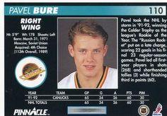 1992-93 Pinnacle #110 Pavel Bure Back