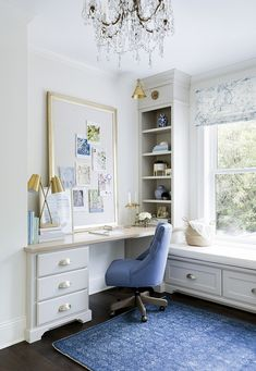 Home office built in desk sources on Home Bunch