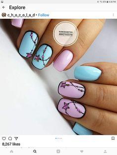 Beach nails Manicure by summer dress Marine nails Pink and purple nails Smart nails Stylish nails Summer nails 2019 Two color nails Smart Nails, Cute Nails, Pretty Nails, My Nails, Nail Art Design Gallery, Best Nail Art Designs, Nail Design, Two Color Nails, Nail Colors