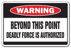 Bord met waarschuwing