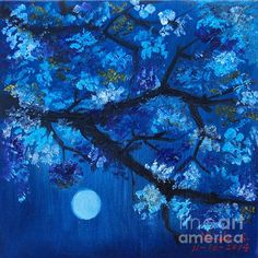 Blue Night - print of a painting.