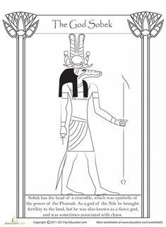 Worksheets: Egyptian God Sobek