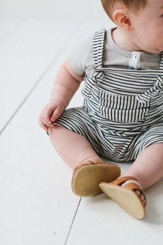 Summer Dungaree Little Stripes - Little Moustache