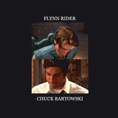 Eugene Fitzherbert, Flynn Rider and Chuck Bartowski - Zachary Levi. HOLY holy Chucks face O.O