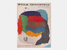 Stile Industria, Industrial Design, Graphic Art, Packaging, No. 7, July 1956. Cover Designer: Michele Provinciali (1923–2009)