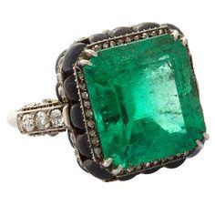Boucheron Art Deco Emerald Ring.  France, ...