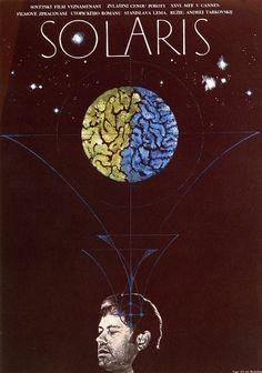 Solaris - Andrei Tarkovsky. Solaris, assim como Eraserhead, me causa momentos passageiros de loucura: o problema é tentar analisar além da estética e aspectos técnicos, arriscando-se na psicanálise (coisa que não domino, longe disto aliás). Mas é justamente essa coisa de emergir no filme, se entorpecer de ideias e teorias, tentando montar o quebra cabeça, que me atrai.