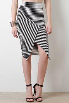 Criss Cross Stripe Skirt