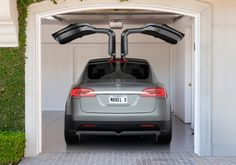 Model X: falcon-wing doors