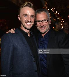 Actor Tom Felton and writer/director Charlie Stratton attend the after party for the Los Angeles premiere of Roadside Attractions and LD Entertainment's 'In Secret' at Aventine Restaurant on February 6, 2014 in Hollywood, California.