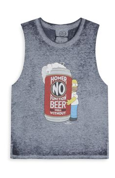 Homer simpson blue jeans white shirt crop top