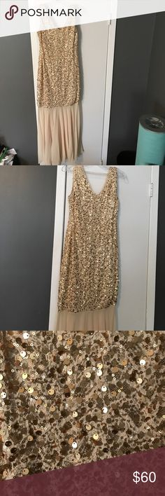 Evening Gown Gold and champagne evening gown worn once for a sweet 16 Dresses