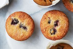 Gluten-Free Blackberry-Cornmeal Muffins - tweaked with 1/2 coconut oil ...