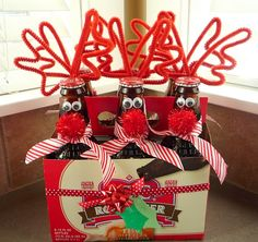 Reindeer root beer cute idea for a christmas gift