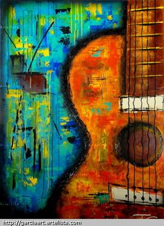 Paintings art by fernando garcia guitar painting, music painting, watercolo Guitar Painting, Music Painting, Music Artwork, Guitar Art, Music Guitar, Painting Art, Abstract Canvas Art, Abstract Paintings, Art Paintings