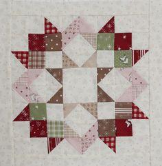 Moa Love Pattern in Mistletoe Lane by Bunny Hill Designs