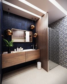 zen Bathroom Decor I would replace the vanity with a vintage repurpos / House Bathroom, Modern Bathroom Design, Bathroom Styling, Bathroom Interior, Amazing Bathrooms, Bathroom Design Luxury, Bathrooms Remodel, Bathroom Decor, Tile Bathroom
