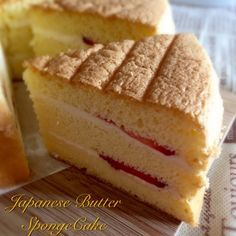 A light and springy spongecake with a nice and sweet butter scent. Happy for being able to decipher the Japanese language recipe to bake thi...