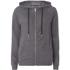 Dorothy Perkins Charcoal Zip Through Hoodie ($39) ❤ liked on Polyvore featuring tops, hoodies, grey, sweatshirt hoodies, gray hoodies, zip top, charcoal hoodie and zipper hoodie