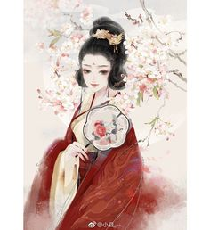 By画画的小夏 Painting Of Girl, China Painting, Painting Art, Beautiful Asian Girls, Life Is Beautiful, Chinese Drawings, Red Costume, Antique Illustration, China Art