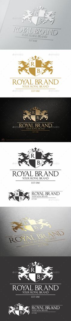 Heraldic Royal Brand Crest Logo — Vector EPS #professional #hotel • Available here → https://graphicriver.net/item/heraldic-royal-brand-crest-logo/9775442?ref=pxcr