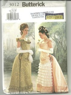 historic costume patterns | Historical Victorian ball gown costume pattern ... | history of costu ...