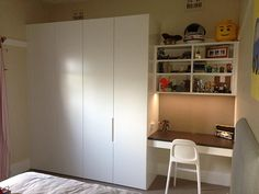 Super Ideas For Kids Room Wardrobe Design Built Ins Kids Wardrobe, Bedroom Wardrobe, Wardrobe Design, Built In Wardrobe, Bedroom Cupboards, Bedroom Desk, Girls Bedroom, Armoire, Closet Built Ins