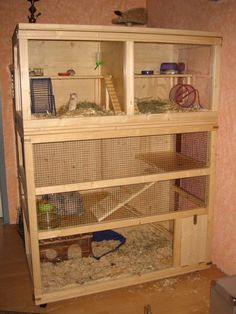 DIY cage for pet rodents. I could have hamsters, gerbils/small reptile, and rats/ferrets/ other larger small animals.pets together in one area! Chinchillas, Pet Rodents, Pet Lizards, Pet Rats, Pet Ferret, Reptiles, Chinchilla Cage, Ferret Cage, Rat Cage