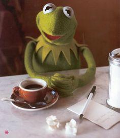 Funny Profile Pictures, Meme Pictures, Reaction Pictures, Frog Wallpaper, Funny Iphone Wallpaper, Frog Drinking Tea, Funny Kermit Memes, Hilarious Memes, Sapo Kermit