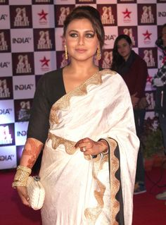 Demure and dainty #Rani, is looking gorgeous in the cream #silksaree. She has ruled the hearts of millions and can a queen look like anything less than magnificent!! Log onto www.shatika.co.in to know more about us. #Shatika #Shatikaeidsale #Silk #Sarees