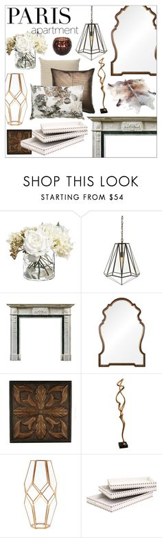 """Paris Apartment with brass"" by szaboesz ❤ liked on Polyvore featuring interior, interiors, interior design, home, home decor, interior decorating, Arteriors, BoConcept, Mirror Image Home and Broste Copenhagen"
