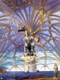 Santiago el Grande by Salvador Dalí. Medium: Oil on canvas; Exhibitions: Salvador Dali: The Late Work; Salvador Dali Gemälde, Salvador Dali Paintings, Spanish Artists, Art Moderne, Love Painting, Surreal Art, Oeuvre D'art, Les Oeuvres, Art History