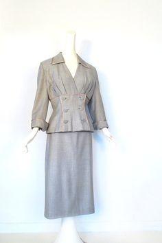 Lilli Ann Suit / 1940s Skirt Suit