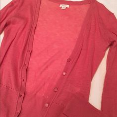 Pink Cardigan Super soft pink cardigan bought from Aerie. Only worn once so it's in great condition! Listed as J. Crew for style. J. Crew Sweaters Cardigans