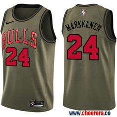 Men s Nike Chicago Bulls  24 Lauri Markkanen Green Salute to Service NBA  Swingman Jersey Denzel cb55cba7d