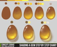 Shading a Gem Step by Step Chart by ConceptCookie on deviantART via PinCG.com
