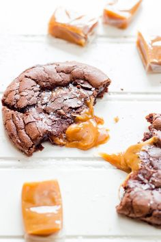Salted Caramel Dark Chocolate Brownie Cookies | 36 Salted Caramel Treats That Will Make You Swoon