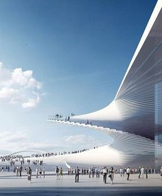 Snøhetta designs Shanghai Grand Opera House with a spiral staircase to access the roof Parametric Architecture, Roof Architecture, Opera House Architecture, Conceptual Architecture, Amazing Architecture, Architecture Drawing Sketchbooks, Artwork For Home, Spiral Staircase, Design Competitions