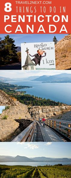 """8 things to do in Penticton BC Canada beginning with """"P"""". Penticton is a First Nations word for 'a place to stay forever'. Weekend Trips, Weekend Getaways, Amazing Destinations, Travel Destinations, Discover Canada, Yoho National Park, Countries Around The World, Roadtrip, Canada Travel"""