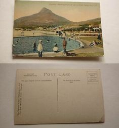 OLD POSTCARD OF SOUTH AFRICA c1900, VIEW OF CAPE TOWN, CAMPS BAY BATHING POOL   eBay Old Postcards, Cape Town, South Africa, Bathing, Australia, Bath, Bathrooms