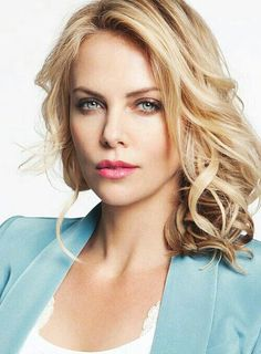 Charlize Theron in sky blue