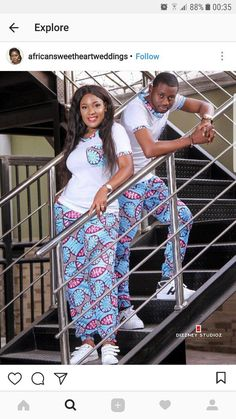 Beautiful Ankara Couples Styles by Diyanu Couples African Outfits, African Dresses For Kids, Latest African Fashion Dresses, African Dresses For Women, African Print Dresses, Couple Outfits, African Print Fashion, African Attire, African Clothes