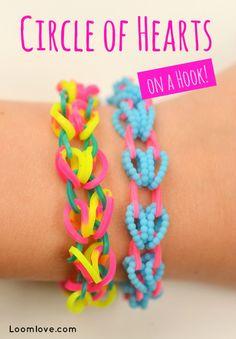 circle of hearts rainbow loom